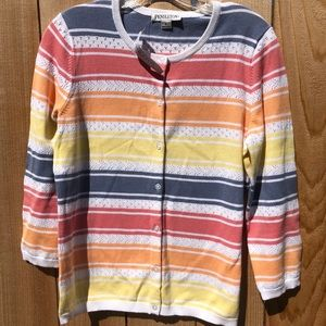 "Pendleton NWT Lt Weight sweater ""In Full Bloom"""